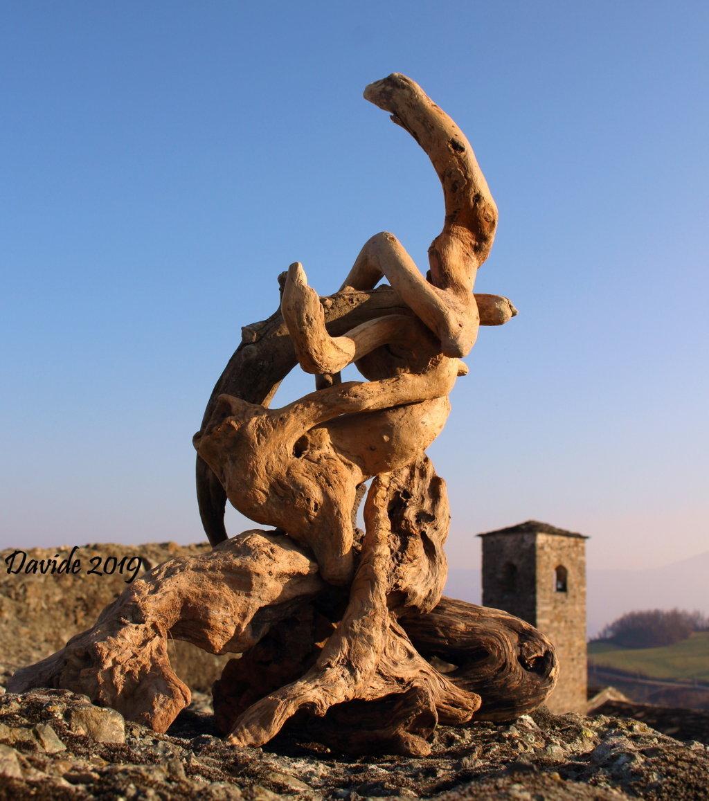 """Davide, """"Forme sfuggenti #23 – Pietra Perduca"""", Travo (Piacenza, Emilia-Romagna – Val Trebbia, Italia), febbraio 2019. © Davide Tansini"""