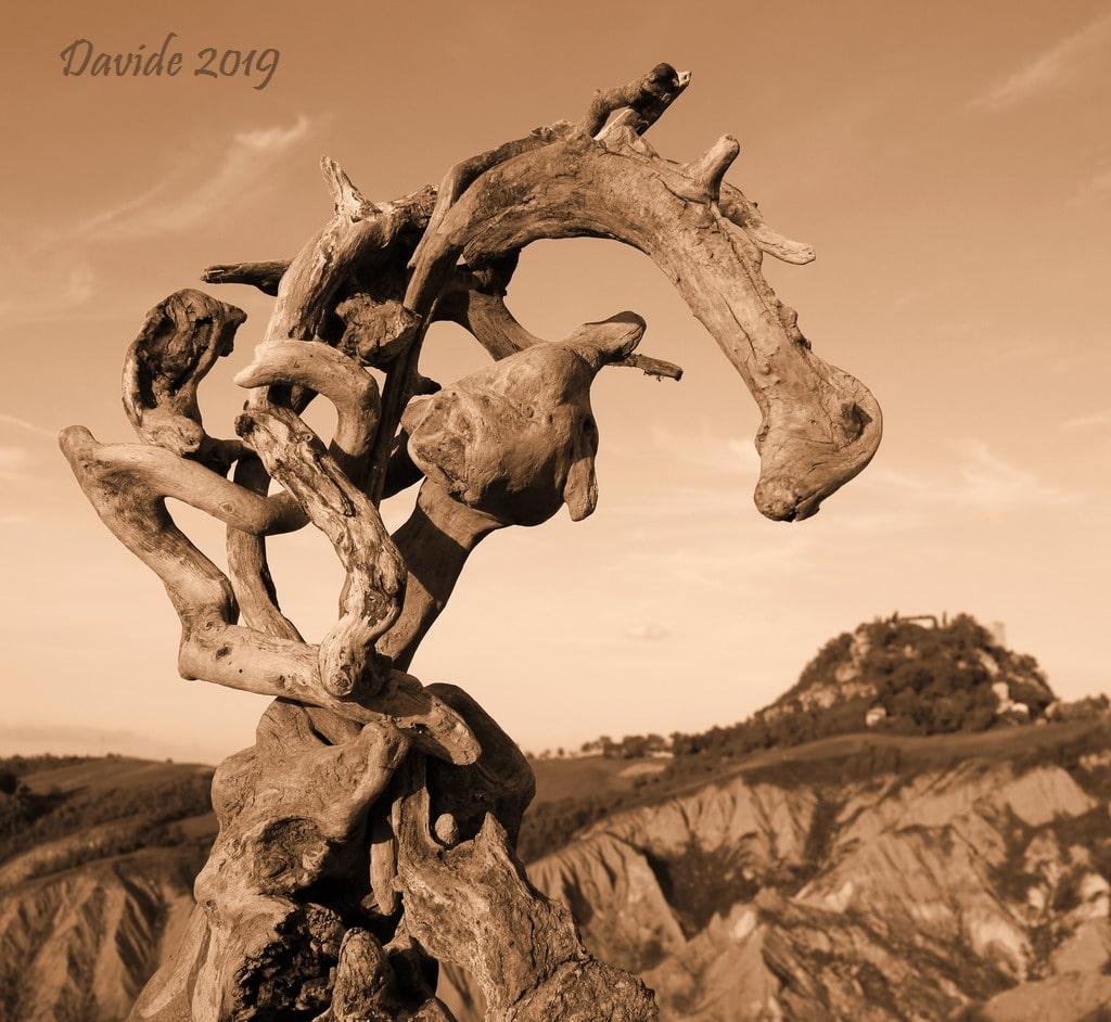"""Davide, """"Forme sfuggenti #41 – Castello di Canossa"""", Canossa (Reggio Emilia, Emilia-Romagna – Val d'Enza, Italia), settembre 2019. © Davide Tansini"""