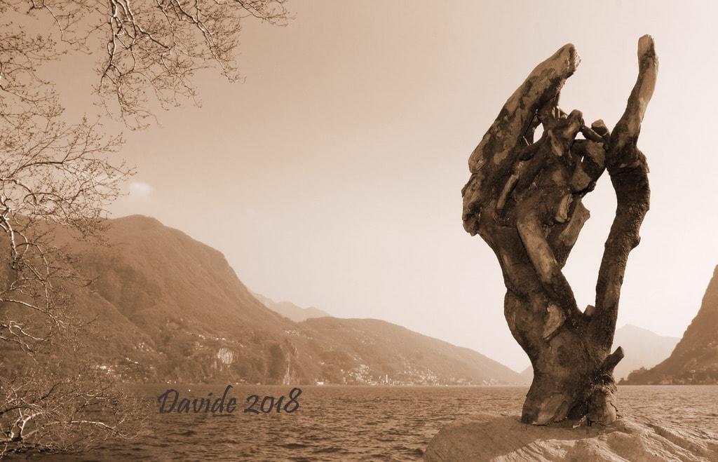 """Davide, """"Forme sfuggenti #6 – Lago di Lugano"""", Lugano (Ticino – Svizzera), aprile 2018. © Davide Tansini"""