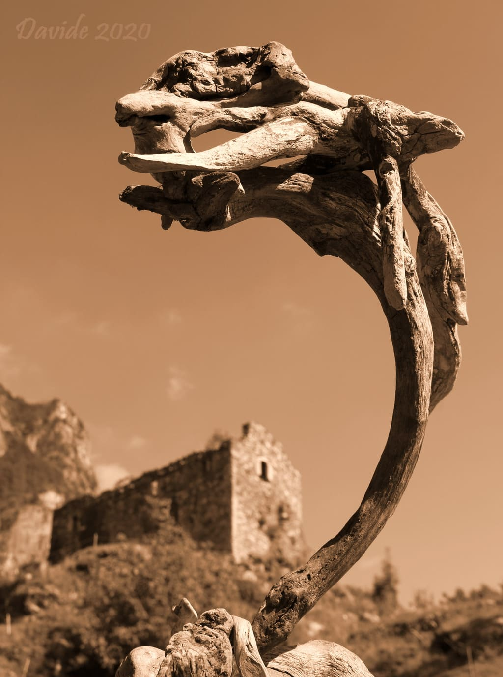 "Davide, ""Forme sfuggenti #63 – Château de Suzey"", Pont-Saint-Martin (Aosta/Aoste, Valle d'Aosta/Vallée d'Aoste – Italia), agosto 2020. © Davide Tansini"