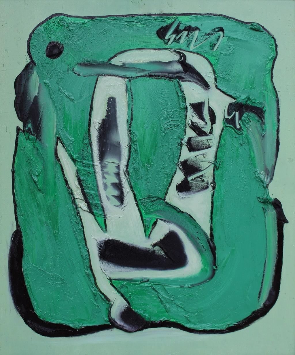 """Erminio Tansini, """"Senza titolo"""", 2000, olio su tavola, 60x50 cm. © Erminio Tansini"""