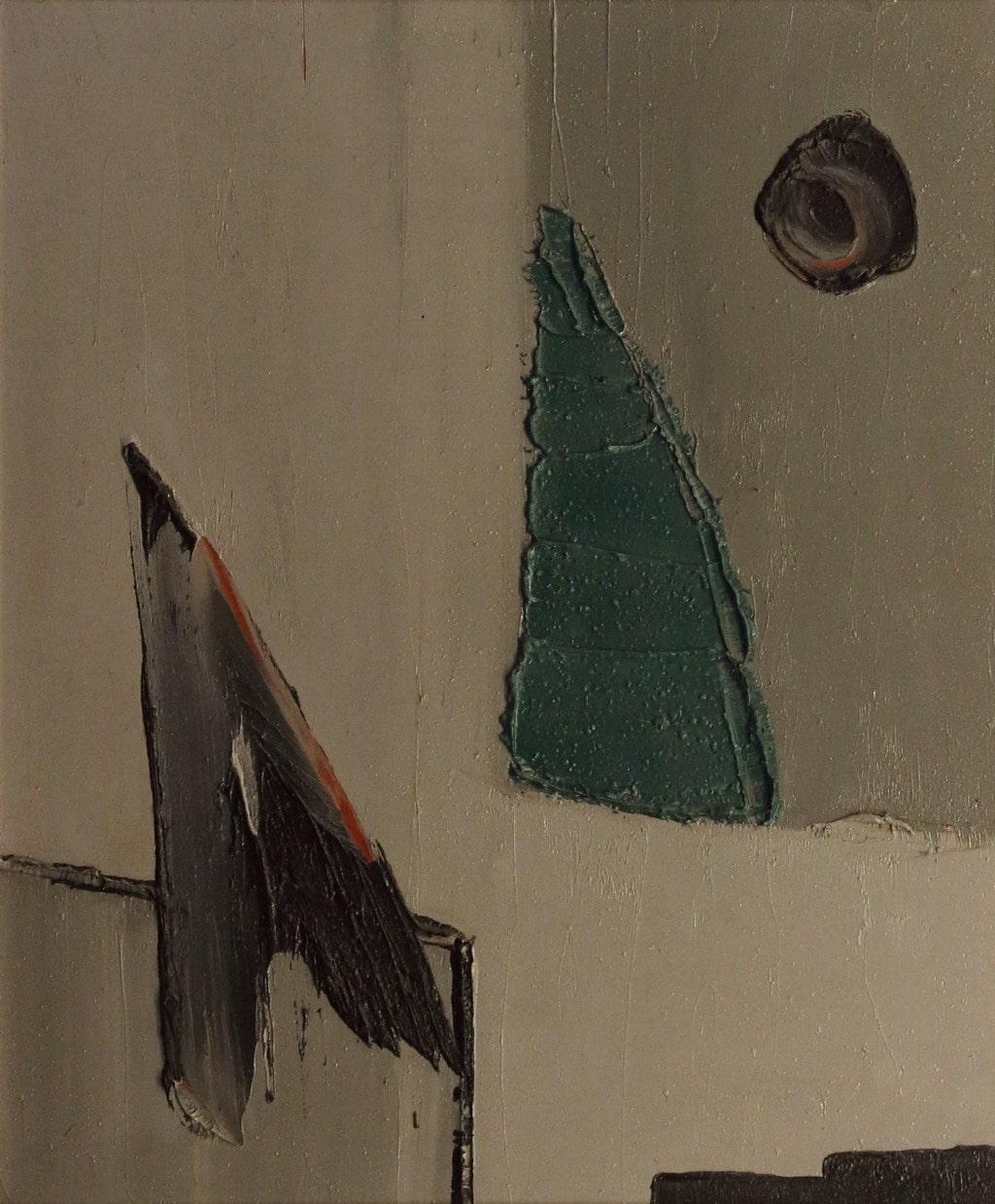 """Erminio Tansini, """"Senza titolo"""", 2005, olio su tavola, 60x50 cm"""