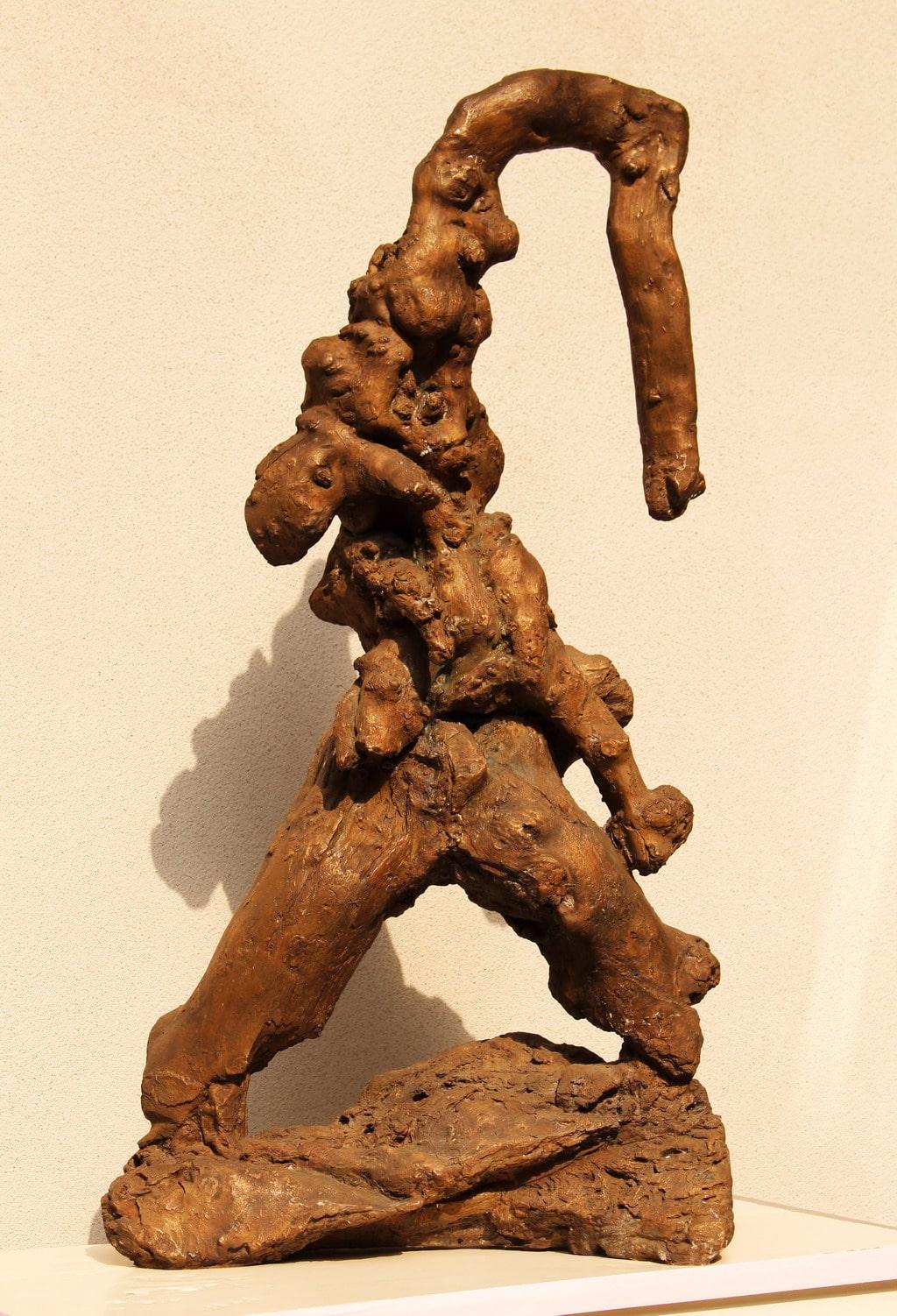"""Erminio Tansini, """"Senza titolo"""", 2016, bronzo, 90x26x46 cm. © Erminio Tansini"""