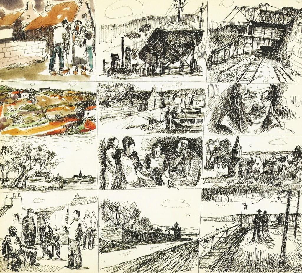 """Luigi Brambati, """"Bretagna"""", 1980, china e acquerello (particolare)"""