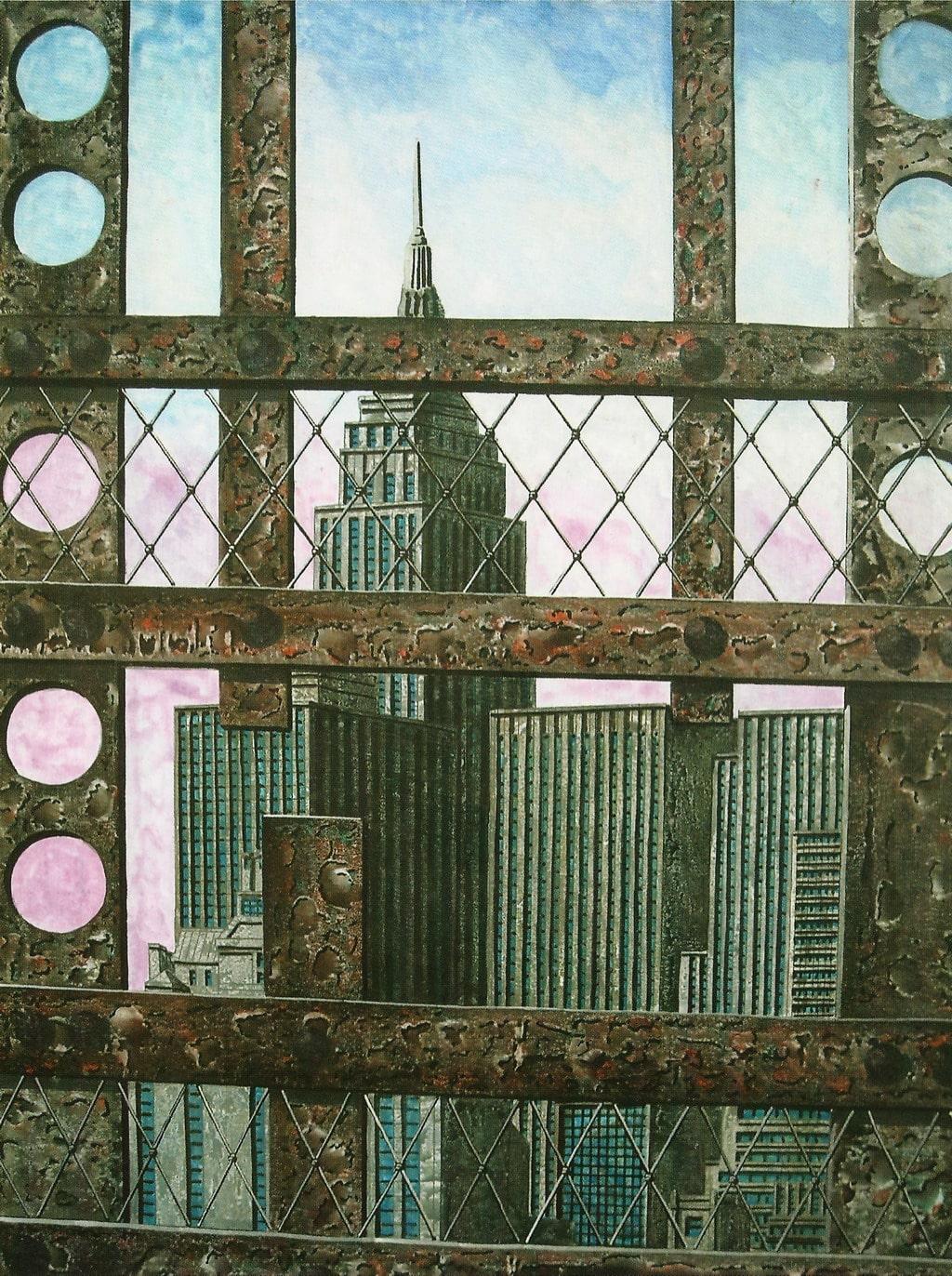 "Tonino Caputo, ""Rust and Empire"", olio su tela"